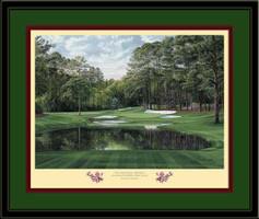 Redbud Augusta 16th Hole Framed Golf Art Print
