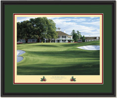 Holly Augusta 18th Hole Framed Golf Art Print