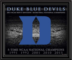 Duke 5-Time NCAA National Champions Framed Picture