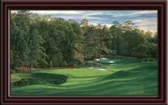 Augusta National 11th Hole Framed Canvas Art framed