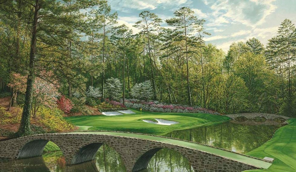 Abstract Golf Artwork