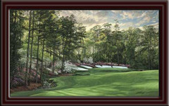 Augusta National 13th Hole Framed Canvas Art framed