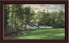 Augusta National 13th Hole Framed Canvas Art framed