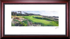 Spyglass Hill 4th Hole Golf Photo Framed Picture