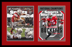 Two Ohio State National Championship Sports Illustrated Covers Framed