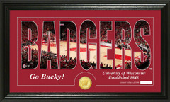 Wisconsin Badgers Word Art and Coin Photo Mint
