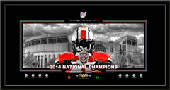 Ohio State Champions Bleed Scarlet and Gray Framed Print no matting
