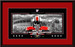 Ohio State Champions Bleed Scarlet and Gray Framed Print matted in red