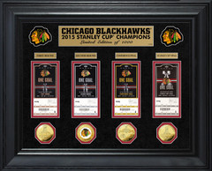 Chicago Blackhawks 2015 Stanley Cup Champions Coin & Ticket Collection