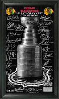 "Blackhawks 2015 Stanley Cup Champions ""Trophy"" Signature Photo"
