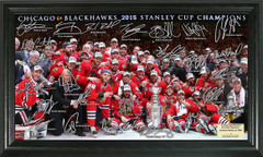 Chicago Blackhawks 2015 Stanley Cup Champions Signature Frame