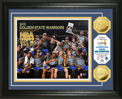 "Golden State Warriors 2015 NBA Champions ""Celebration"" Gold Coin Photo Mint"