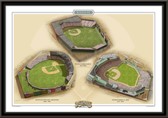 Boston AL Historic Ballparks of Baseball Framed Print