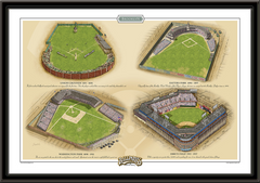 Brooklyn Historic Ballparks of Baseball Framed Print
