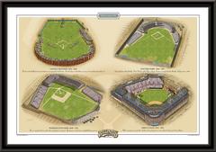 Brooklyn Historic Ballparks of Baseball Framed Print