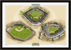 Chicago AL Historic Ballparks of Baseball Framed Print