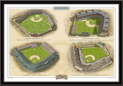 Chicago NL Historic Ballparks of Baseball Framed Print
