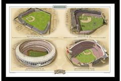 Cincinnati Historic Ballparks of Baseball Framed Print
