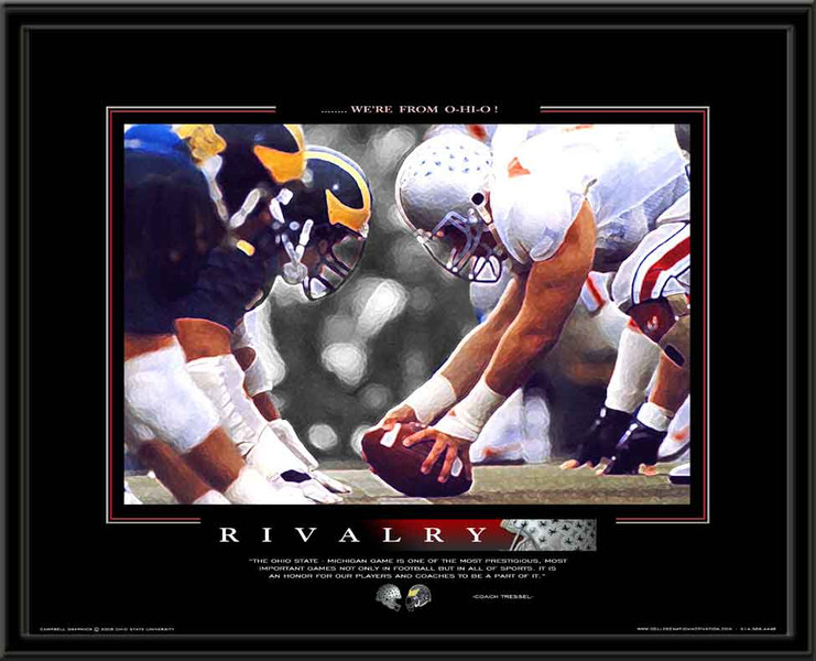 Ohio State Framed Motivational Sports Poster Rivalry