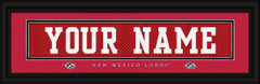New Mexico Lobos Personalized Jersey Nameplate