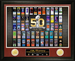NFL Super Bowl Fifty 50th Anniversary Ticket Collection Photo Mint