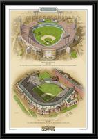 Baltimore Historic Ballparks of Baseball Framed Print