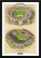 Baltimore Historic Ballparks of Baseball Framed Print