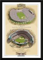 Los Angeles Historic Ballparks of Baseball Framed Print
