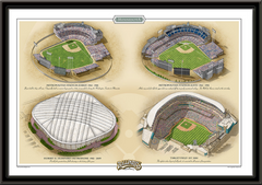 Minnesota Historic Ballparks of Baseball Framed Print