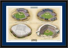 Minnesota Historic Ballparks of Baseball Framed Print