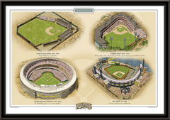 Pittsburgh Historic Ballparks of Baseball Framed Print