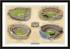 San Francisco Historic Ballparks of Baseball Framed Print