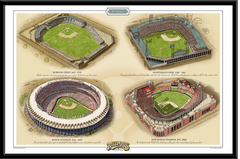 St Louis Historic Ballparks of Baseball Framed Print