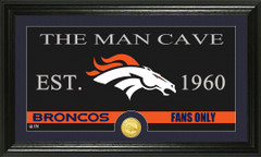 Denver Broncos Man Cave Sign and Photo Mint