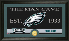 Philadelphia Eagles Man Cave Sign and Photo Mint