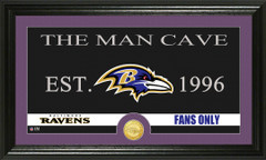 Baltimore Ravens Man Cave Sign and Photo Mint