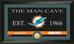 Miami Dolphins Man Cave Sign and Photo Mint