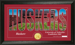 Nebraska Word Art Coin Photo Mint