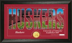 Nebraska Word Art Coin Photo Mint