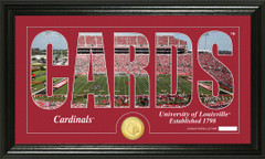 Louisville Cardinals Football Word Art and Coin Photo Mint
