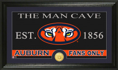 Auburn Tigers Man Cave Sign and Photo Mint