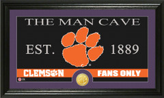 Clemson Tigers Man Cave Sign and Photo Mint