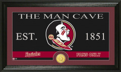Florida State Seminoles Man Cave Sign and Photo Mint