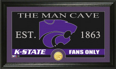 Kansas State Wildcats Man Cave Sign and Photo Mint