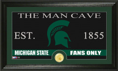 Michigan State Spartans Man Cave Sign and Photo Mint