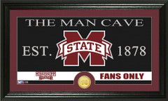 Mississippi State Bulldogs Man Cave Sign and Photo Mint