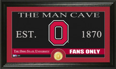 Ohio State Buckeyes Man Cave Sign and Photo Mint