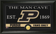 Purdue Boilermakers Man Cave Sign and Photo Mint