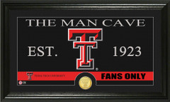Texas Tech Red Raiders Man Cave Sign and Photo Mint