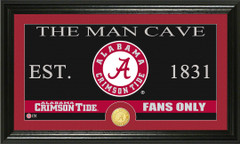 Alabama Crimson Tide Man Cave Sign and Photo Mint